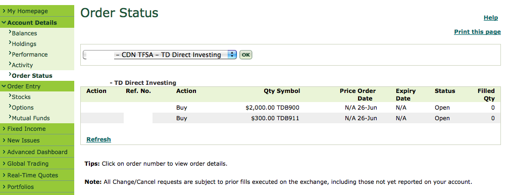 Options trading tfsa account